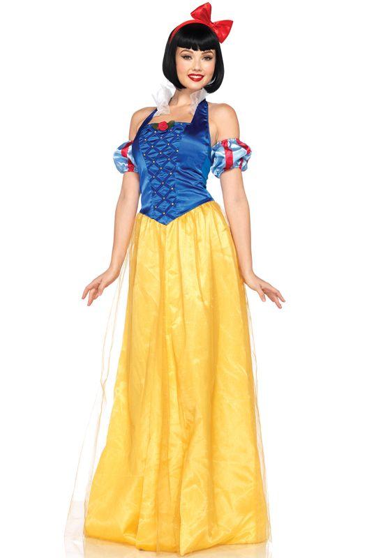 Snow White Ladies Fancy Dress Fairytale Princess Adult Womens Storybook Costume