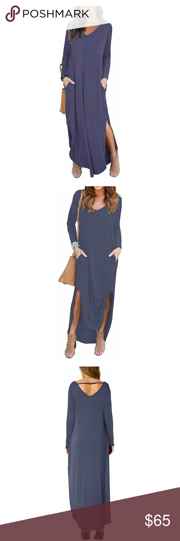Nwt Purple Grey Long Sleeve V Neck Maxi Knot Dress Nwt Grey Purple Long Sleeve Maxi Dress With Pocket Grey Long Sleeve Long Sleeve Maxi Maxi Dress With Sleeves [ 1740 x 580 Pixel ]