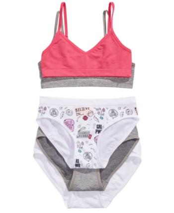 579dc8a1d21b Little & Big Girls 5-Pc. Bras & Panties Set in 2019 | Products | Bra ...
