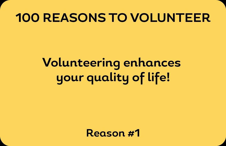 Volunteering enhances your quality of life. #Volunteer #Regina