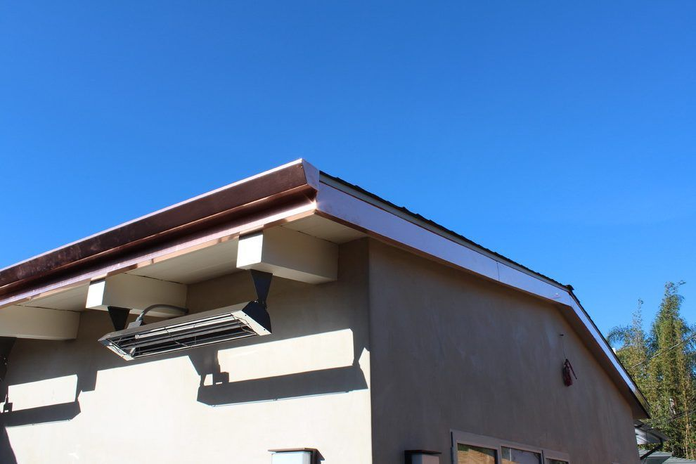 Los Angeles Copper Fascia With Siding And Exterior Contractors Contemporary Wrap Rain Gutter Shapes Patio Builders Backyard Sports Rain Gutters
