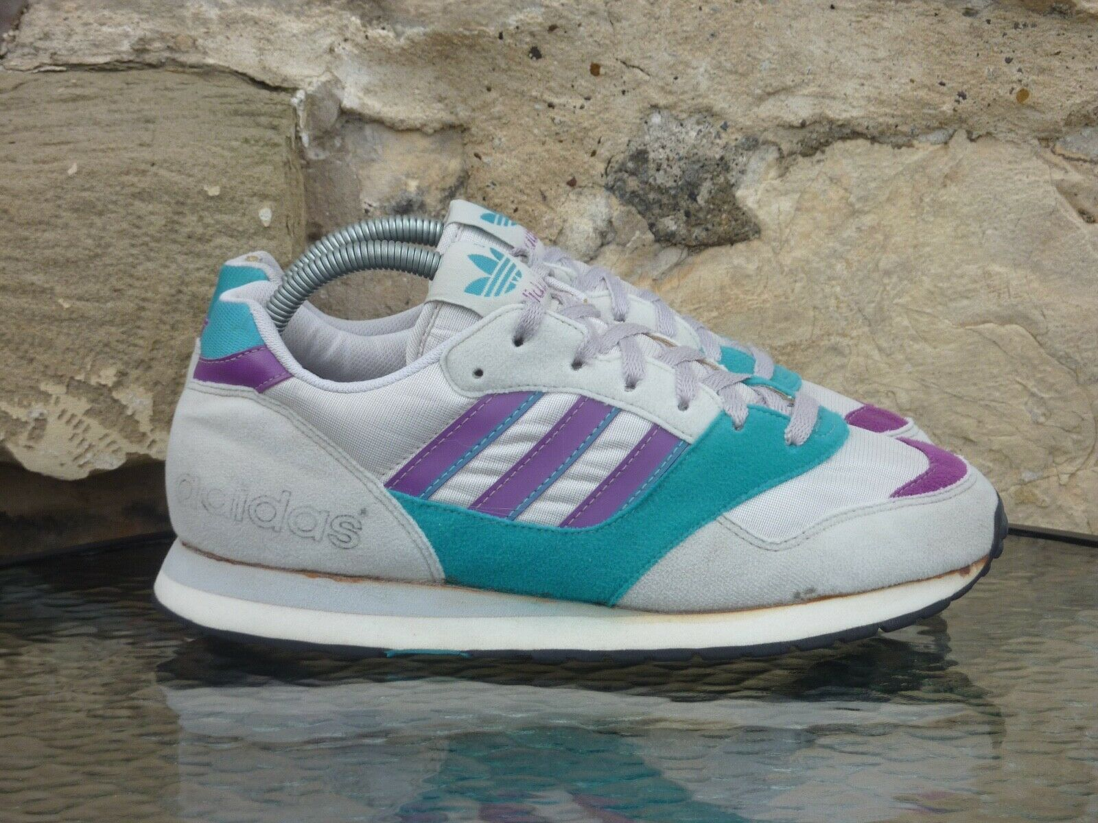 Vintage 1990 Adidas Quitar UK 7 Made In Thailand OG new york fire ...