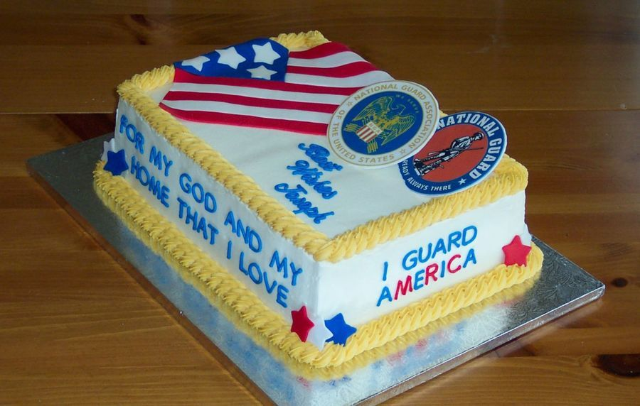 National Guard Cake With Images National Guard Military Cake