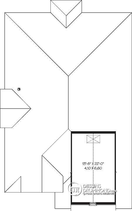 Détail du plan de Maison unifamiliale W3248 Idée maison Pinterest