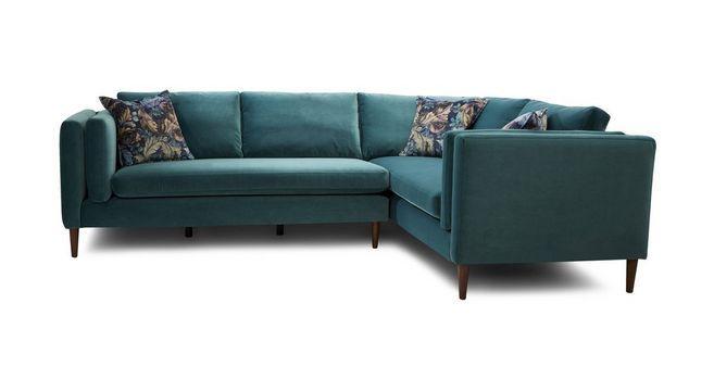 Eden Left Hand Facing Arm 3 Seater Corner Sofa Luxe Velvet Dfs Green Corner Sofas Corner Sofa Sofa