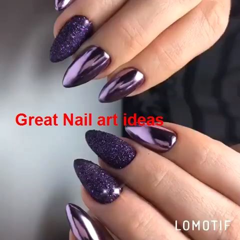 2019 trendy nailarts  1 in 2020  trendy nails purple