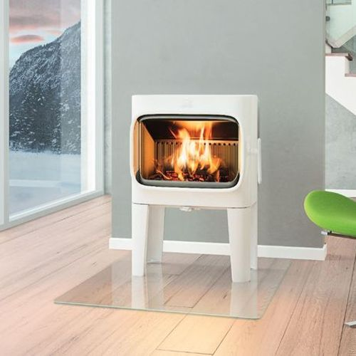 Jotul F305 Wood Burning Stove - White Enamel - Long Legs - Jotul F305 Wood Burning Stove - White Enamel - Long Legs