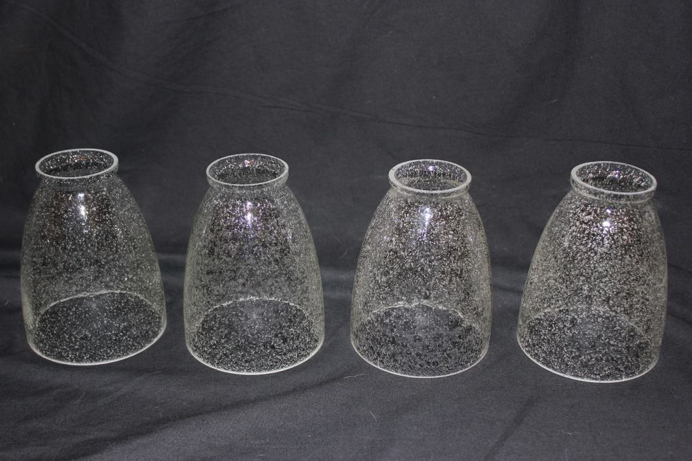 Set Of 4 Seeded Seedy Seed Bubble Glass Replacement Shades Globes Pretty Vguc Bubble Glass Glass Replacement Glass