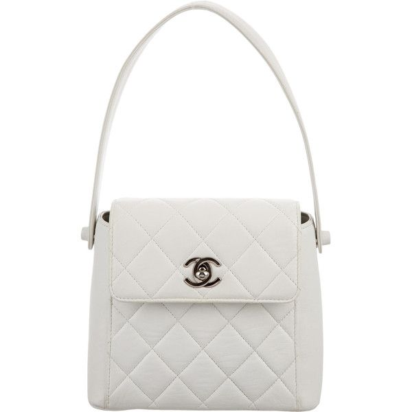 Pre Owned Chanel Mini Quilted Handle Bag 645 Liked On Polyvore Featuring Bags Handbags White Hand Ba With Images Guess Purses Chanel Handbags Chanel Purse
