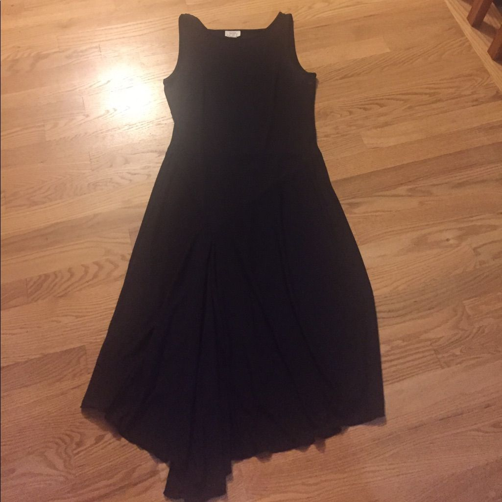 Ann taylor loft black jersey style dress sz ann taylor loft and