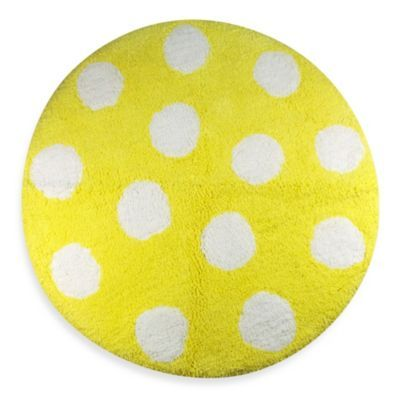 Polly Yellow 24 Inch Round Bath Rug Bedbathandbeyond Com Round