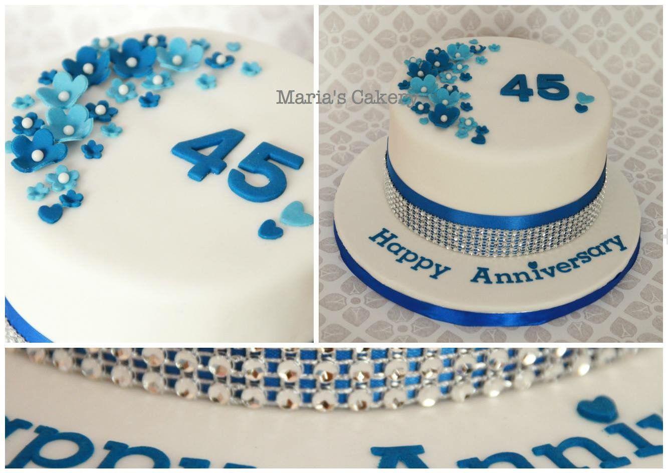 Sapphire Anniversary Cake Anniversary Cake 45th Wedding