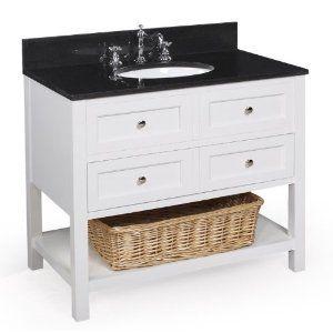 New Yorker 36 Inch Bathroom Vanity Blackwhite Includes Cabinet