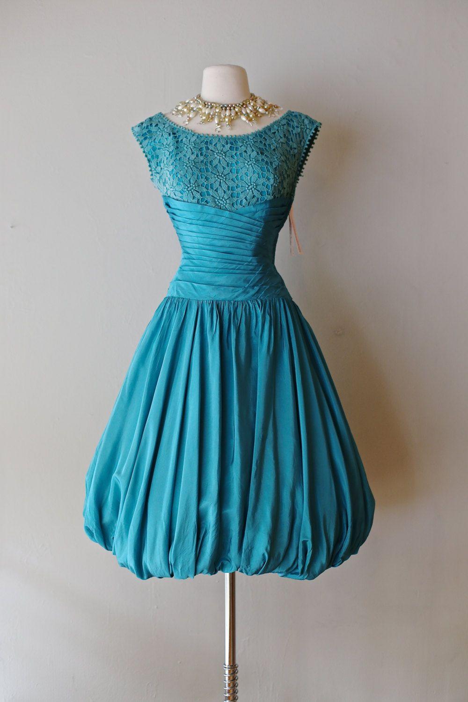 Fabulous 1950s Fred Perlberg Bubble Hem Party Dress ~ Vintage 50s ...