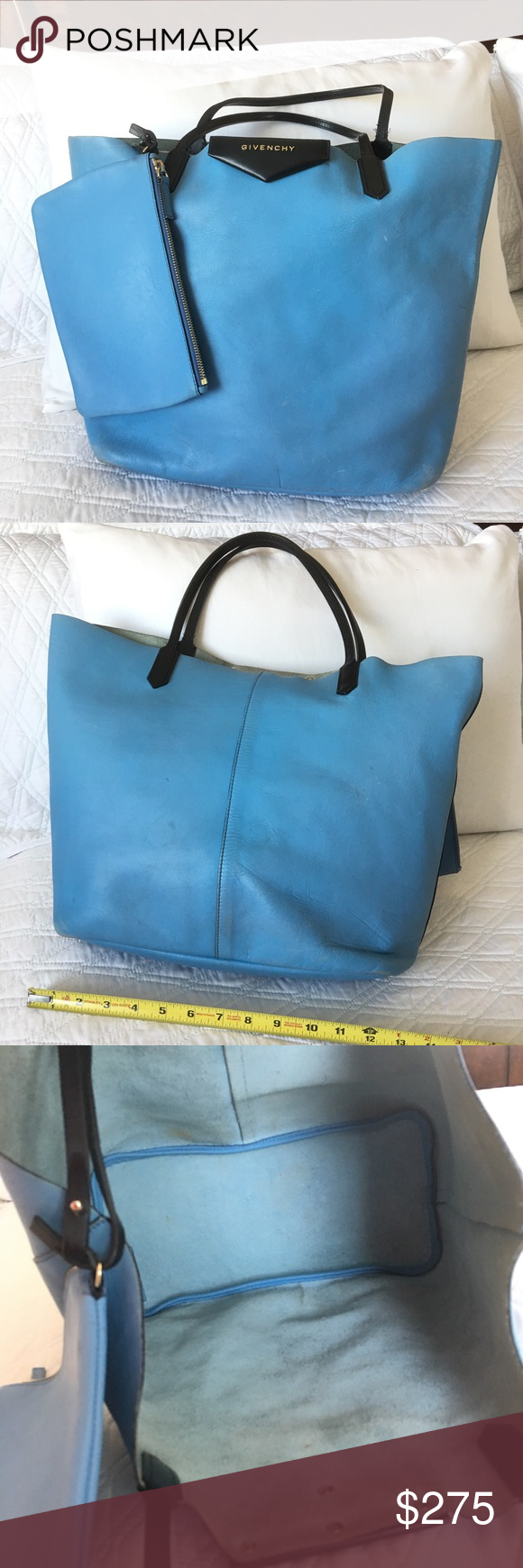 b1910d341f Authentic Givenchy Leather Tote Authentic! Gorgeous blue leather tote w   pouch from Givenchy💕