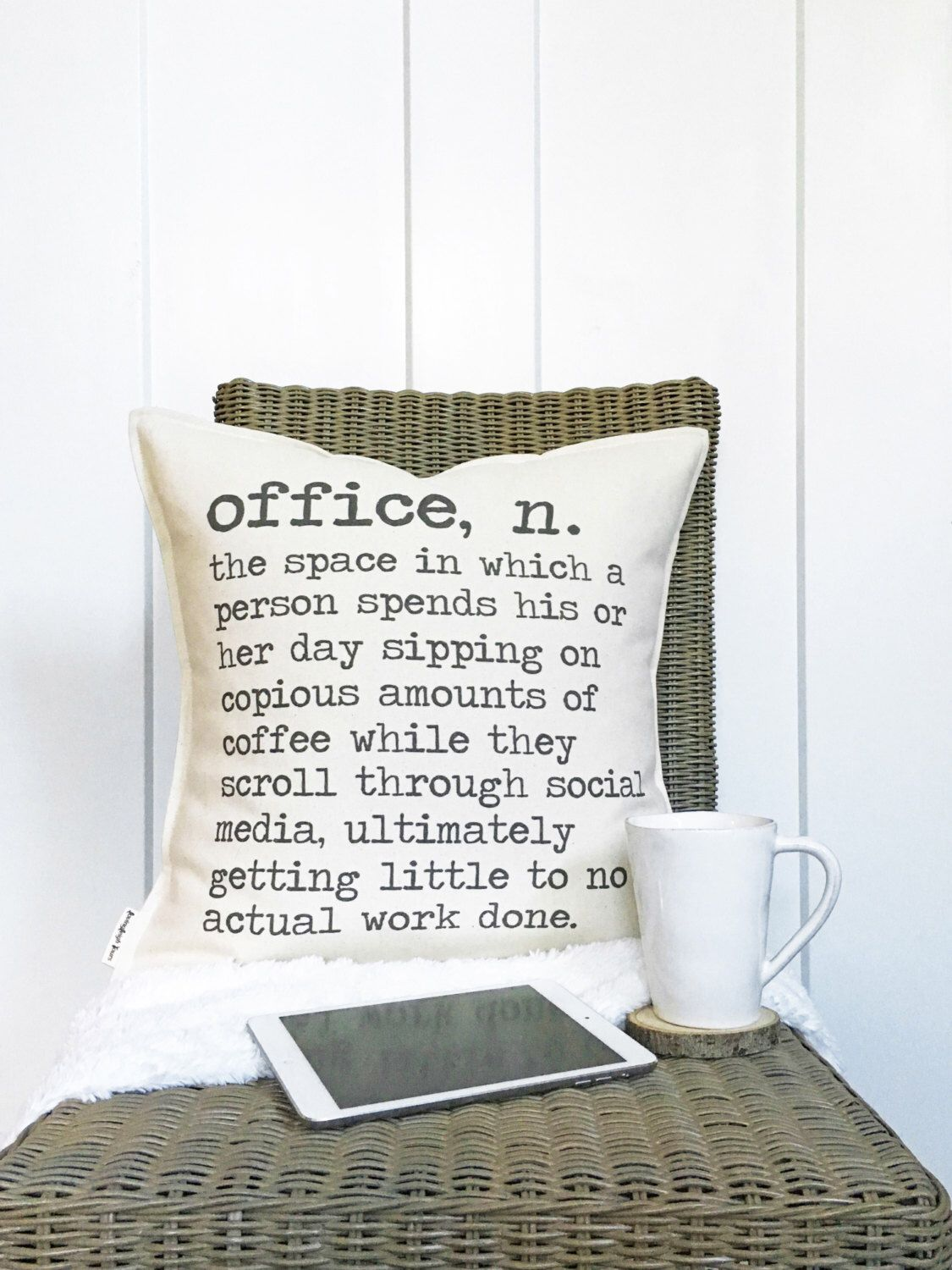 Office Foyer Meaning : Quot office definition pillow funny decor