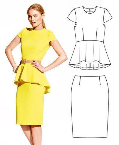 Peplum Top 08/2012 #113 | Costura | Sewing patterns, Sewing, Fashion