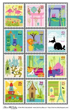 graphic about Stamp Printable known as Free of charge Postage Stamp Printable towards Sheri McCulley Studio