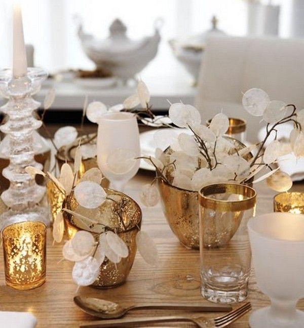 WeihnachtsdekoselberbastelnTischdekogoldene