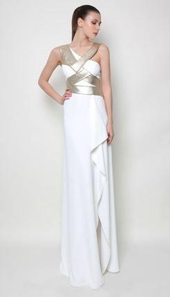 Modern greek style wedding dress by greek fashion for Greek wedding dress designers