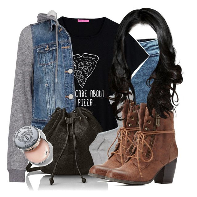 Aria Salvatore Inspired Outfit by grandmasfood on Polyvore featuring polyvore fashion style Dex H&M Charlotte Russe Wild Pair Bobbi Brown Cosmetics clothing