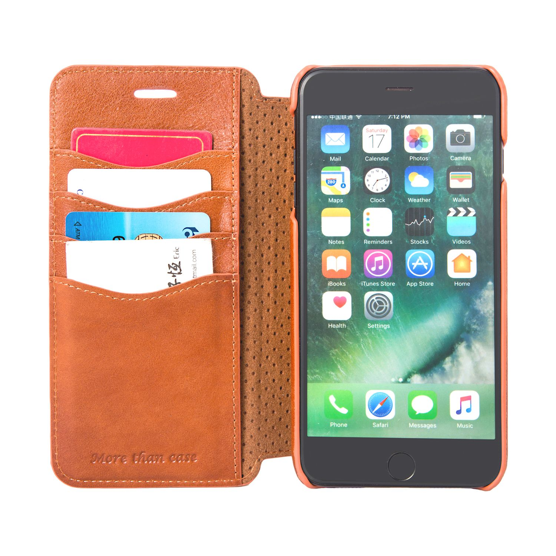 14007dcf42 INONES 本革 iPhone 7 Plus ケース 手帳型 (硬度 9H 液晶保護 強化 ガラス
