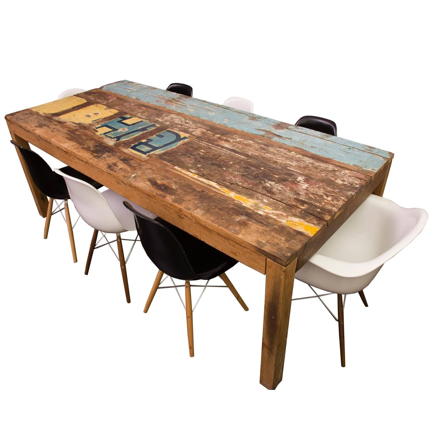 Reclaimed Indonesian Fishing Boat Dining Table | Dining ...