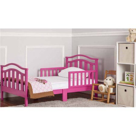 Dream On Me Elora Collection Toddler Bed Fuschia Pink Convertible Toddler Bed Kid Beds