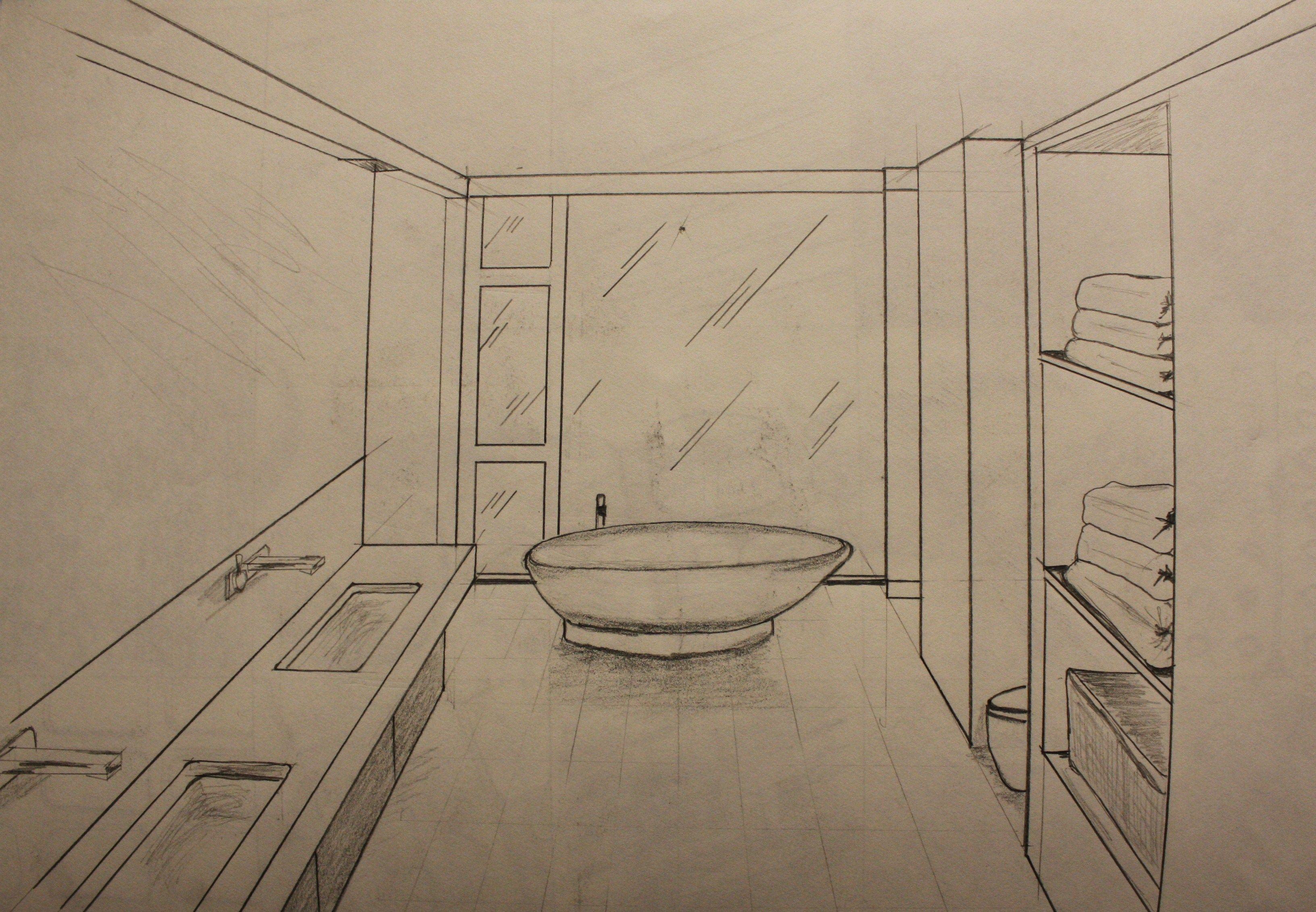 Bathroom perspective drawing - Quick Draw Bathroom Perspective Design Projects Pinterest Bathroom Drawing Bathroom Drawing Image Tips