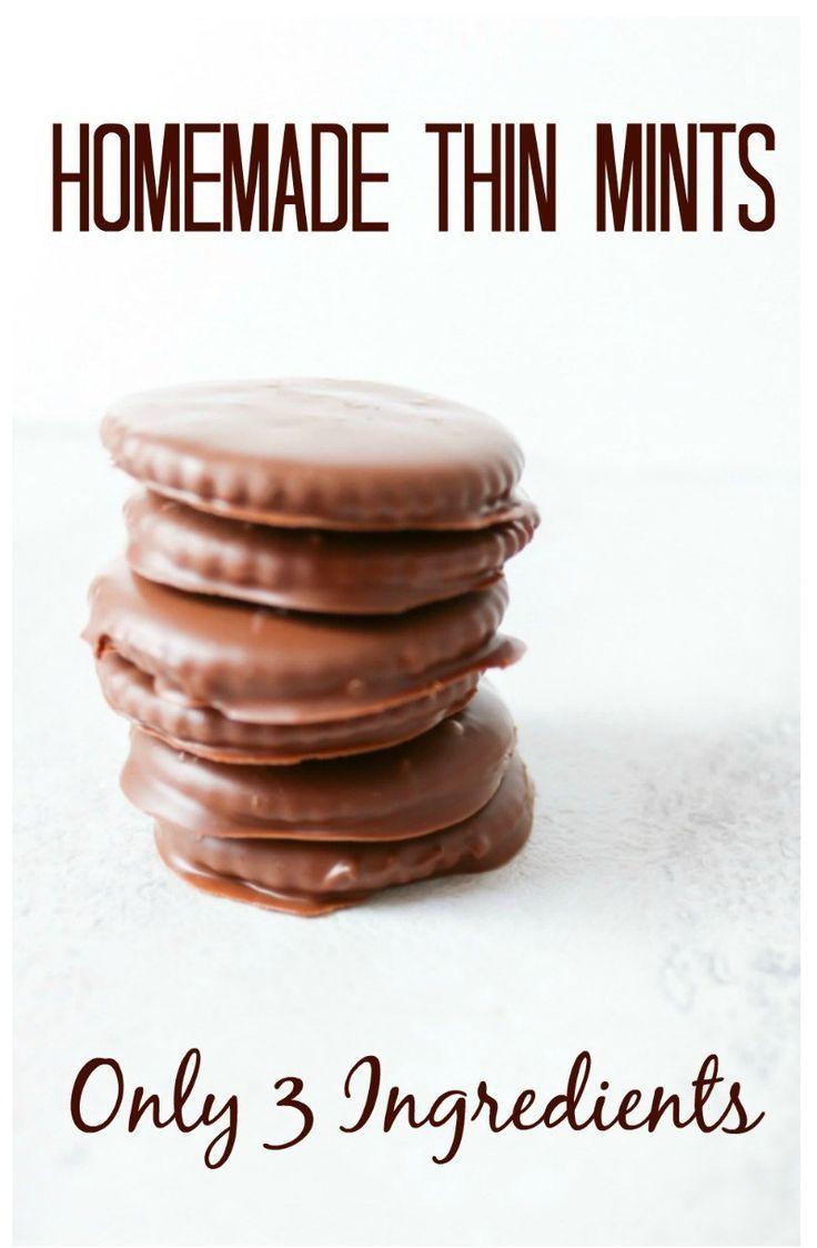 3-Ingredient Thin Mint Cookies