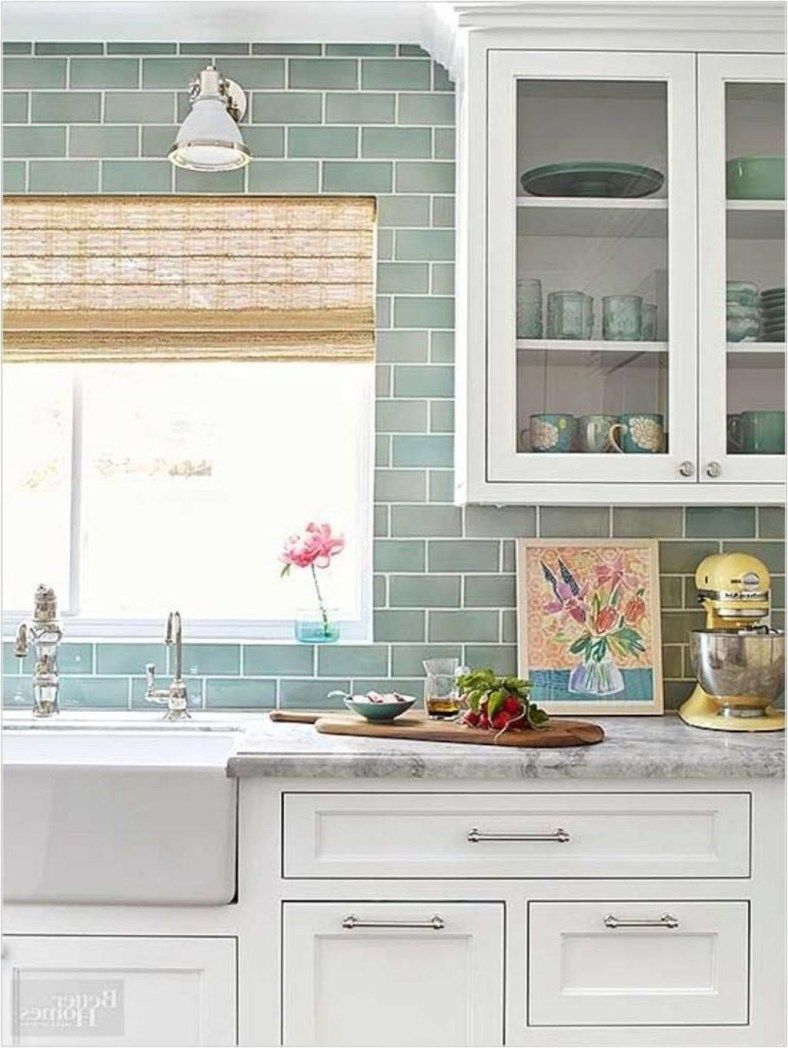 20+ Cool Modern Farmhouse Kitchen Backsplash Ideas