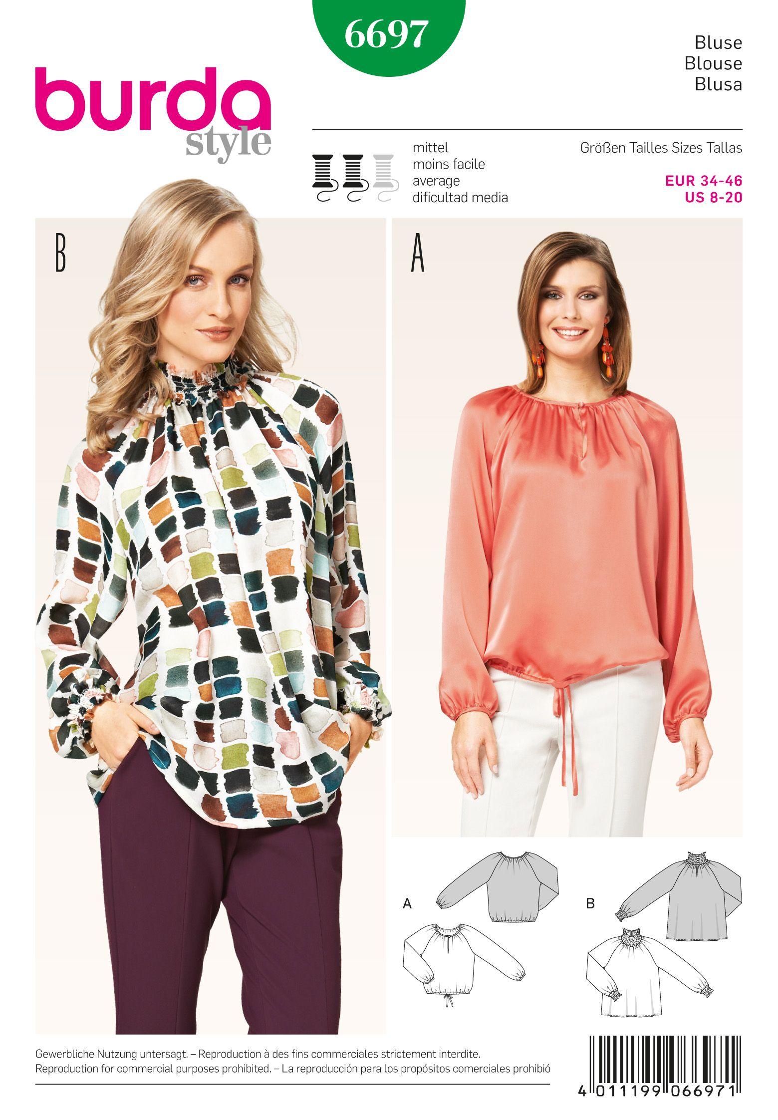 Burda Misses\' Blouse 6697 | Sewing | Pinterest