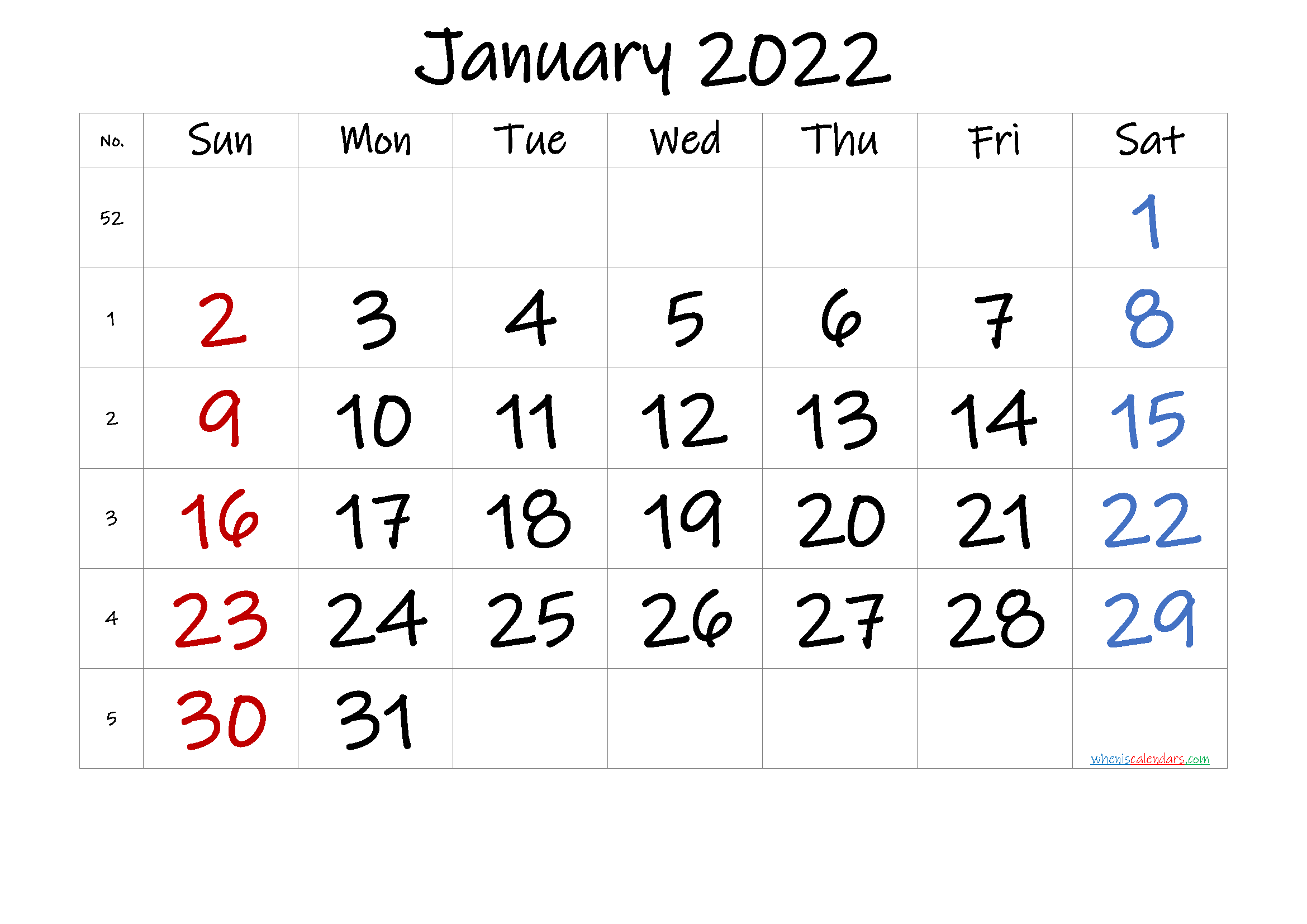 Dec Calendar 2022 Printable.Free January 2022 Calendar Free Premium Free Printable Calendar Templates Calendar Printables Printable Calendar Template