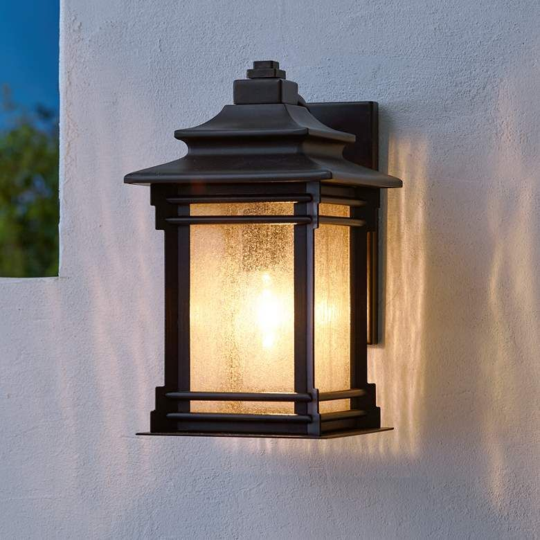 Hickory Point 12 High Walnut Bronze Outdoor Wall Light 09559