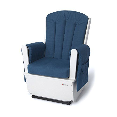 Foundations SafeRocker SS Swivel Glider Rocker, White/Blue   Foundations SafeRocker SS Swivel Glider Rocker, White/Blue The SafeRocker SS by Foundations features everything you need for an active,  professional daycare environment. Rocker has an extra wide seating surface which provides spacious and comfortable seating for extended periods of rocking and feeding. The ultra durable microfiber material is removable for easy laundering. Rocker arm rests are ergonomically designed for ma..