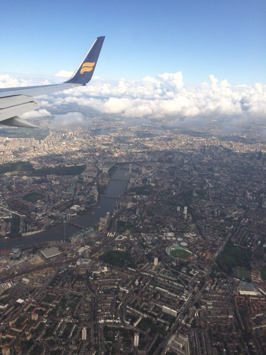 View of London from aeroplane