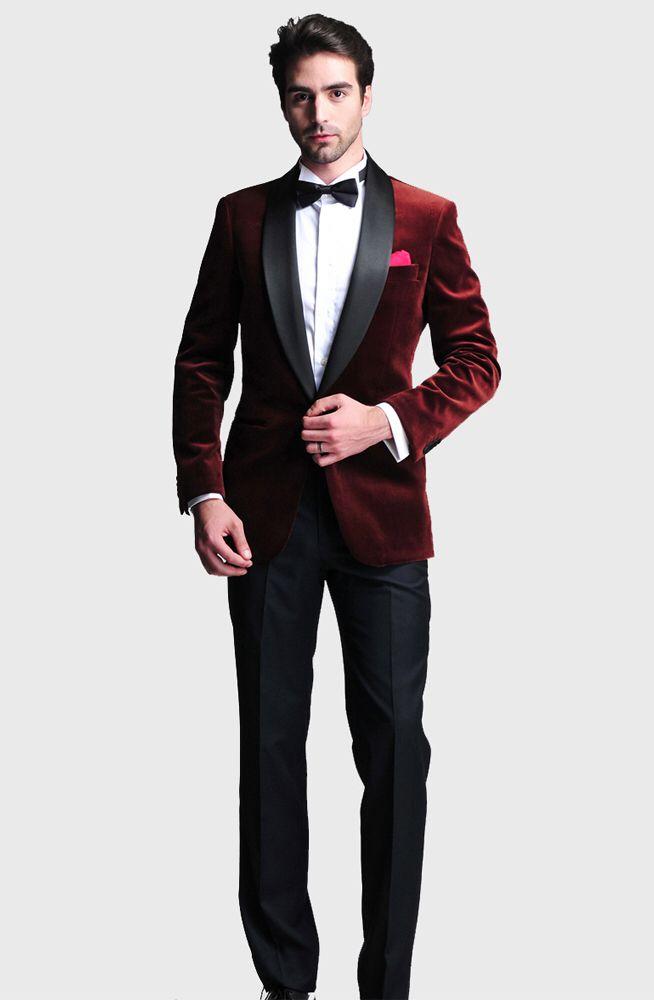 a704c41c0a1 Burgundy Dinner Jacket | Fashionistaaaa in 2019 | Tuxedo wedding ...