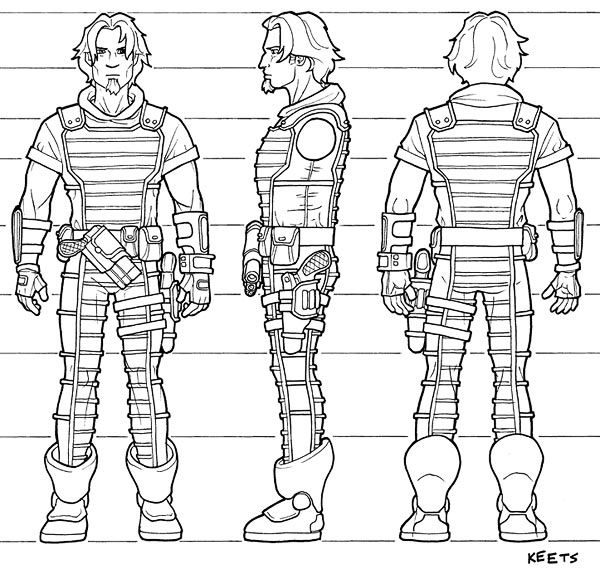 Character Design Layout : Turnaround model sheet layout character
