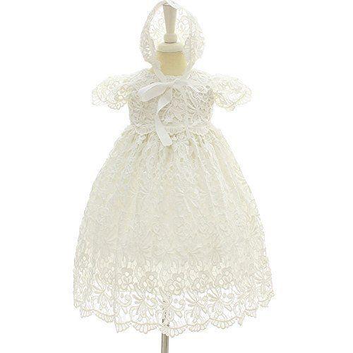 Moon Kitty 2PCS Baby Girls Dresses Christening Baptism Gowns Formal Dress