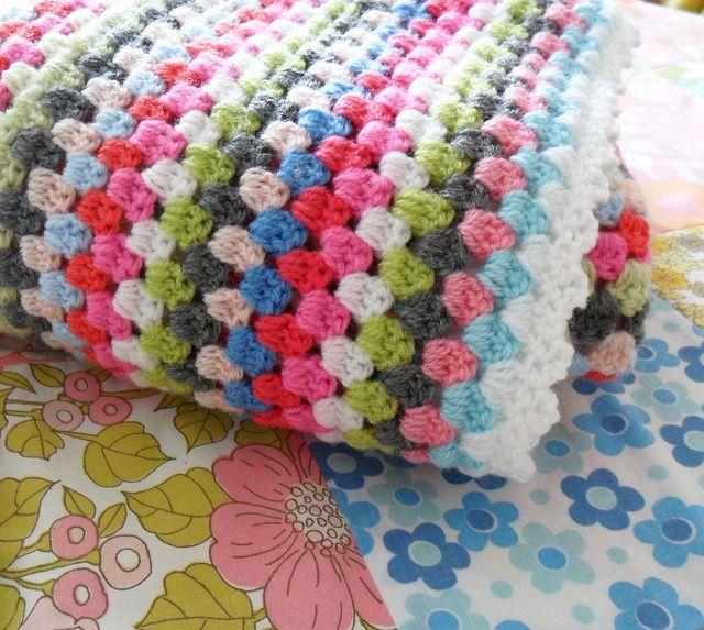 granny square blanket by Littleteawagon