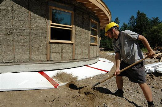 Earthbag building foundation an insulation blanket of for Foundation blanket insulation