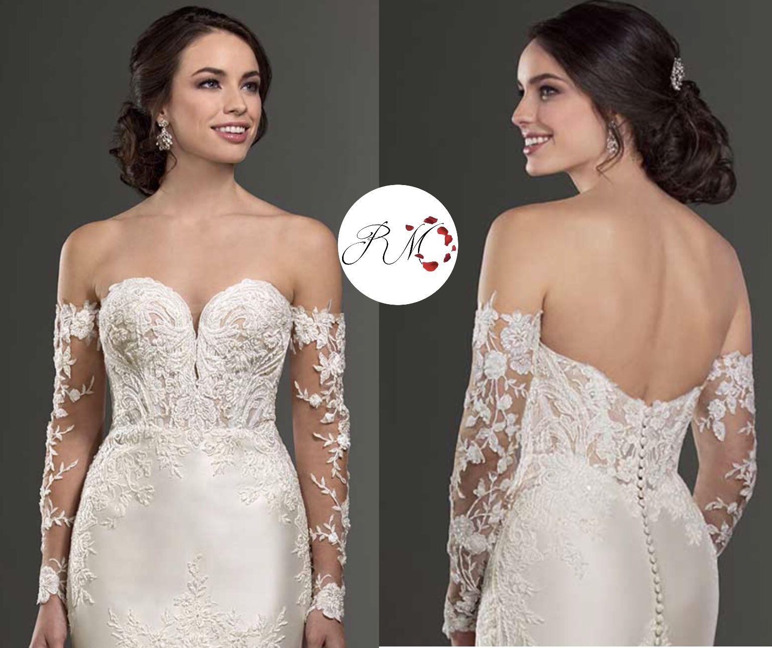 Detachable sleeves  Wedding dress sleeves, Bridal wear, Wedding