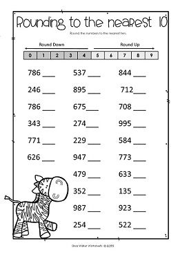 Rounding Numbers To The Nearest 10 And 100 Round Whole Numbers Rounding Numbers 3rd Grade Math 2nd Grade Math Worksheets