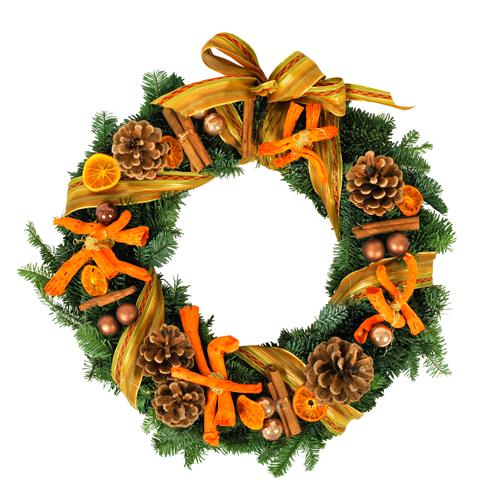 Livraison Couronne De L 39 Avent Dans Les Tons Orange Et Vert Christmas Time Pinterest Avent