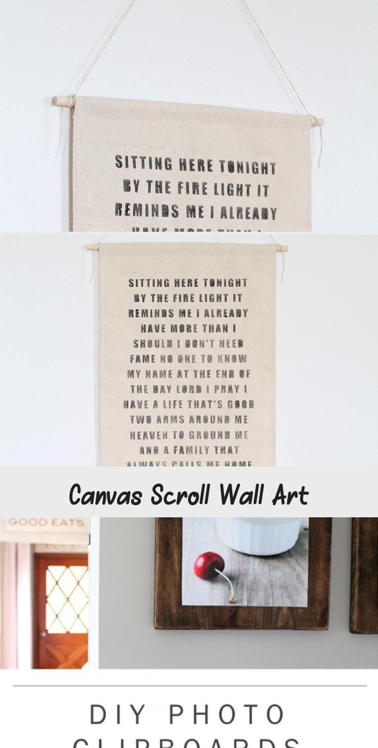Canvas Scroll Wall Art Kayla S Blog Scroll Wall Art Wall Art Diy Canvas
