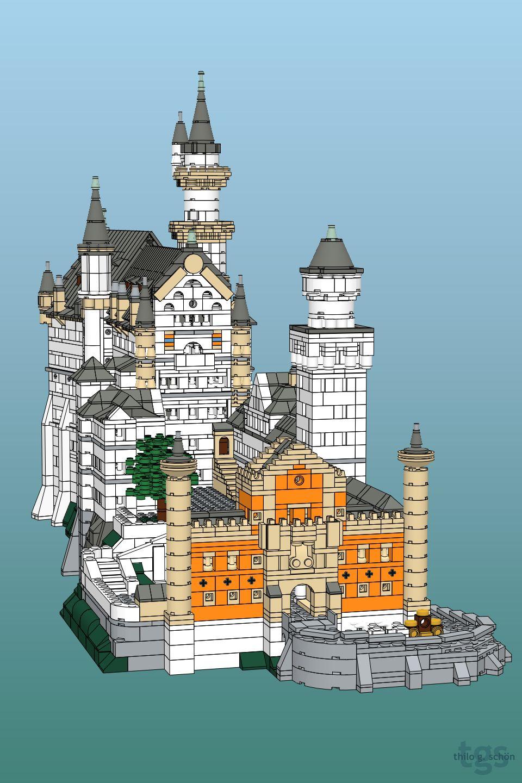Neuschwanstein Front Lego Castle Lego Design Neuschwanstein Castle