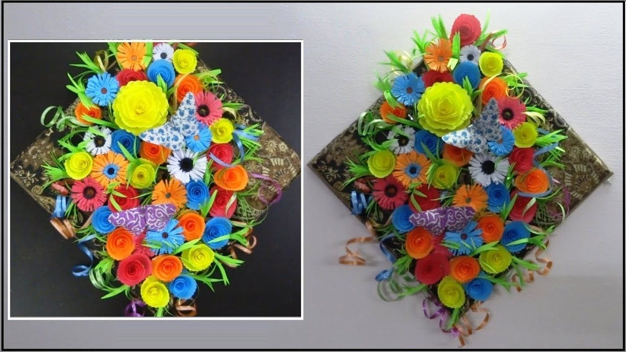 Diy paper crafts flowers wall hanging floral wall decorations easy