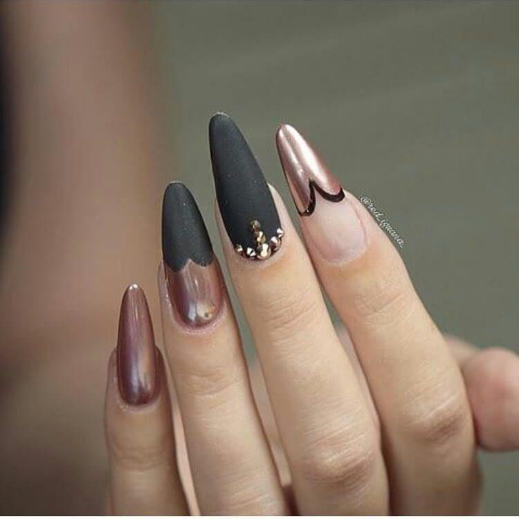 +80 Diseños de uñas decoradas color negro   Decoración de Uñas - Nail Art - Uñas decoradas