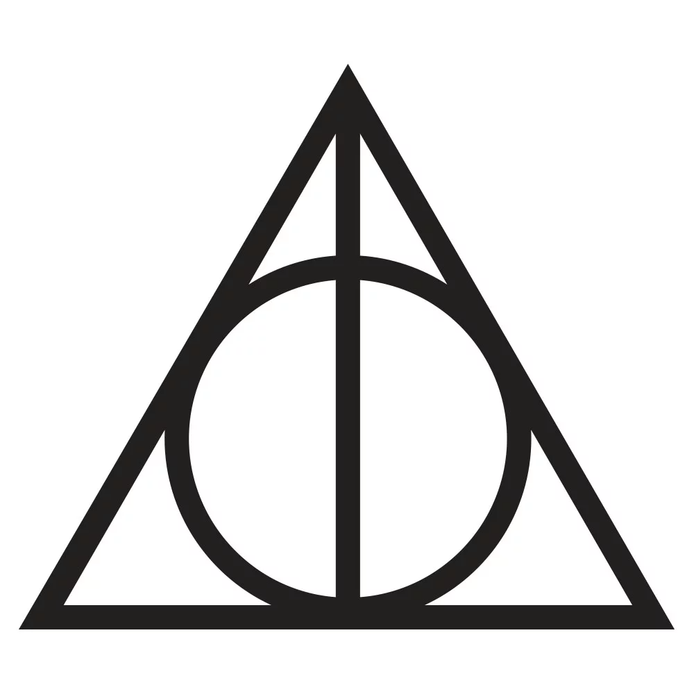 The Deathly Hallows Symbol Deathly Hallows Symbol Harry Potter Pumpkin Carving Harry Potter Stickers