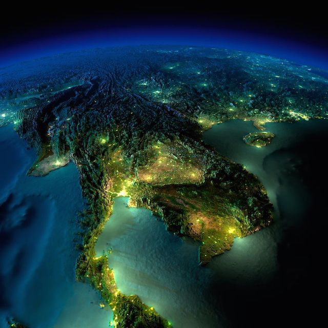 Incredible Images Of Earth At Night From Space By NASA Real - Map of the world from space at night